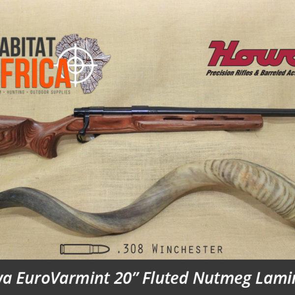 Howa EuroVarmint 20 inch 308 Winchester Fluted Nutmeg Laminate - Habitat Africa | Gun Shop | South Africa