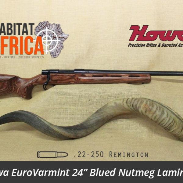 Howa EuroVarmint 24 inch 22-250 Remington Blued Nutmeg Laminate - Habitat Africa | Gun Shop | South Africa