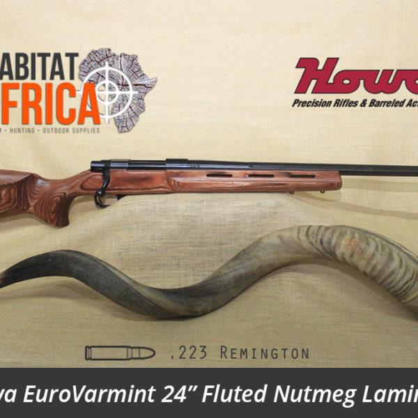 Howa EuroVarmint 24 inch 223 Remington Fluted Nutmeg Laminate - Habitat Africa | Gun Shop | South Africa