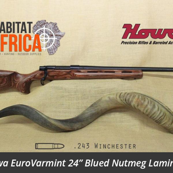 Howa EuroVarmint 24 inch 243 Winchester Blued Nutmeg Laminate - Habitat Africa | Gun Shop | South Africa
