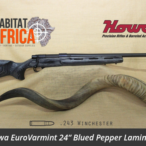 Howa EuroVarmint 24 inch 243 Winchester Blued Pepper Laminate - Habitat Africa | Gun Shop | South Africa