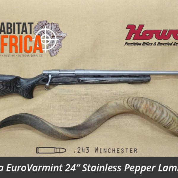 Howa EuroVarmint 24 inch 243 Winchester Stainless Pepper Laminate - Habitat Africa | Gun Shop | South Africa