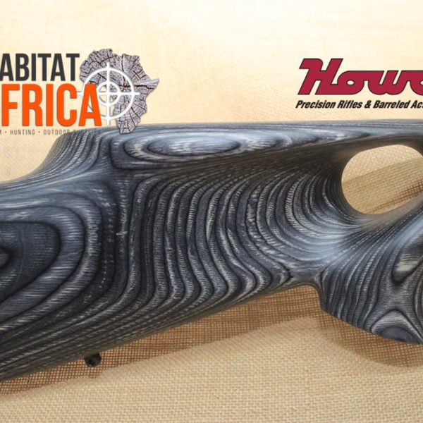 Howa Thumbhole Hunter Blued in Pepper Laminate Stock Grip