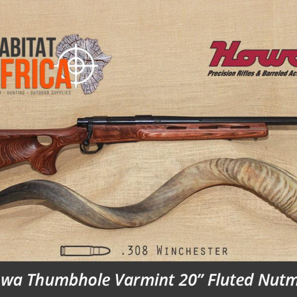 Howa Thumbhole Varmint 20 inch 308 Winchester Fluted Nutmeg Laminate - Habitat Africa | Gun Shop | South Africa