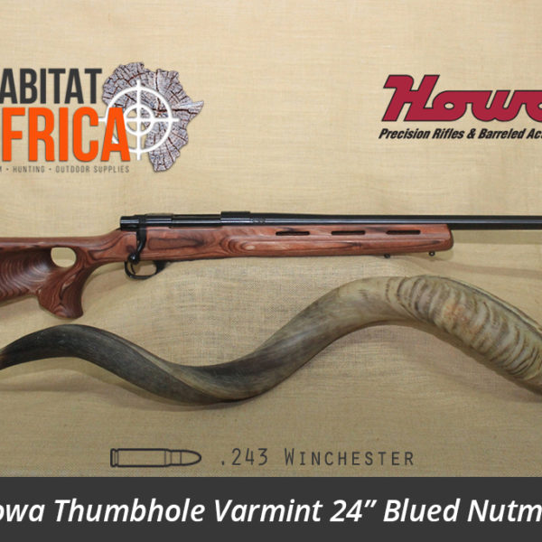 Howa Thumbhole Varmint 24 inch 243 Winchester Blued Nutmeg Laminate - Habitat Africa | Gun Shop | South Africa