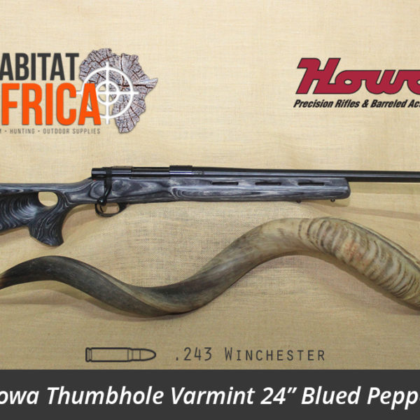 Howa Thumbhole Varmint 24 inch 243 Winchester Blued Pepper Laminate - Habitat Africa | Gun Shop | South Africa