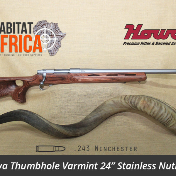 Howa Thumbhole Varmint 24 inch 243 Winchester Stainless Nutmeg Laminate - Habitat Africa | Gun Shop | South Africa