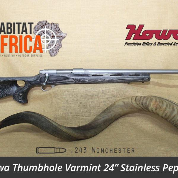 Howa Thumbhole Varmint 24 inch 243 Winchester Stainless Pepper Laminate - Habitat Africa   Gun Shop   South Africa