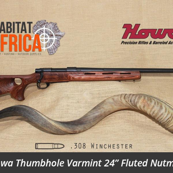 Howa Thumbhole Varmint 24 inch 308 Winchester Fluted Nutmeg Laminate - Habitat Africa | Gun Shop | South Africa