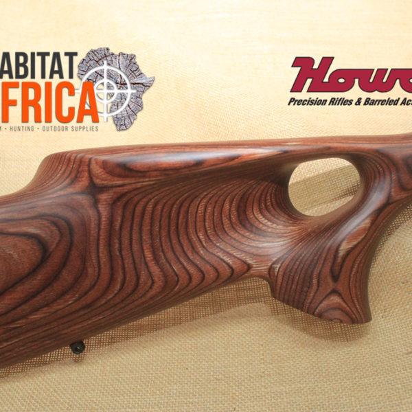 Howa Thumbhole Varmint 24 inch Stainless Nutmeg Laminate Stock Side