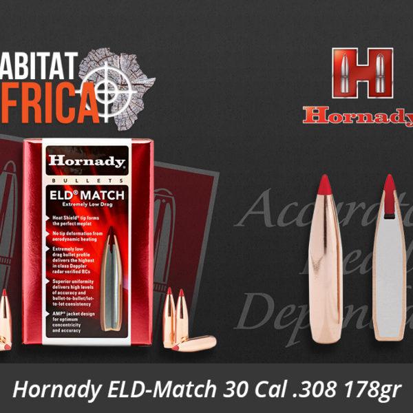 Hornady ELD-Match 30 Cal 308 178gr Bullets