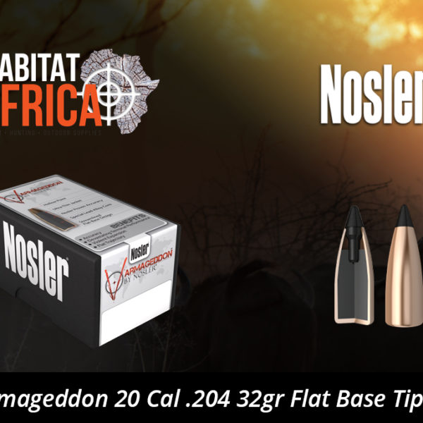 Nosler Varmageddon 20 Cal 204 32gr Flat Base Tipped