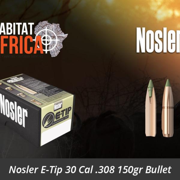 Nosler E-Tip 30 Cal 308 150gr Bullet