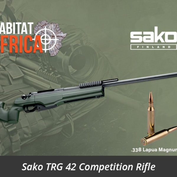 Sako TRG 42 338 Lapua Magnum Rifle Green Muzzle Brake - Habitat Africa | Gun Shop | South Africa