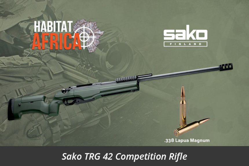 Sako TRG 42 338 Lapua Magnum Rifle Green Muzzle Brake - Habitat Africa | Gun Shop | South Africa