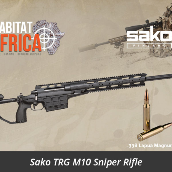 Sako TRG M10 338 Lapua Magnum Sniper Rifle - Stealth Black - Habitat Africa | Gun Shop | South Africa