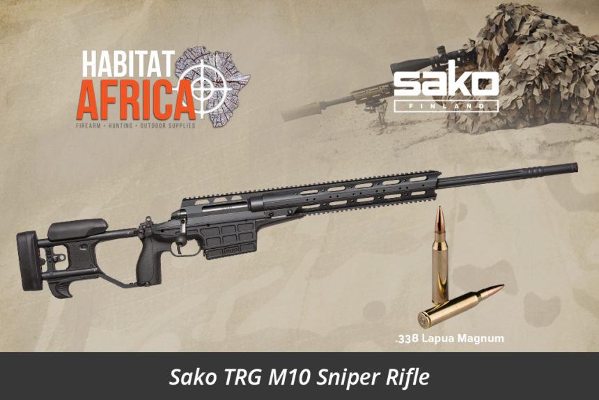 Sako TRG M10 338 Lapua Magnum Sniper Rifle - Stealth Black - Habitat Africa | Gun Shop | South Africa