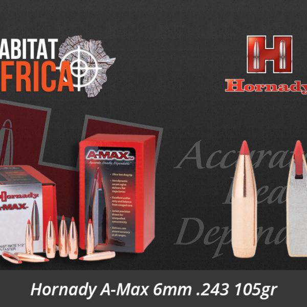Hornady A-Max 6mm 243 105gr Bullets
