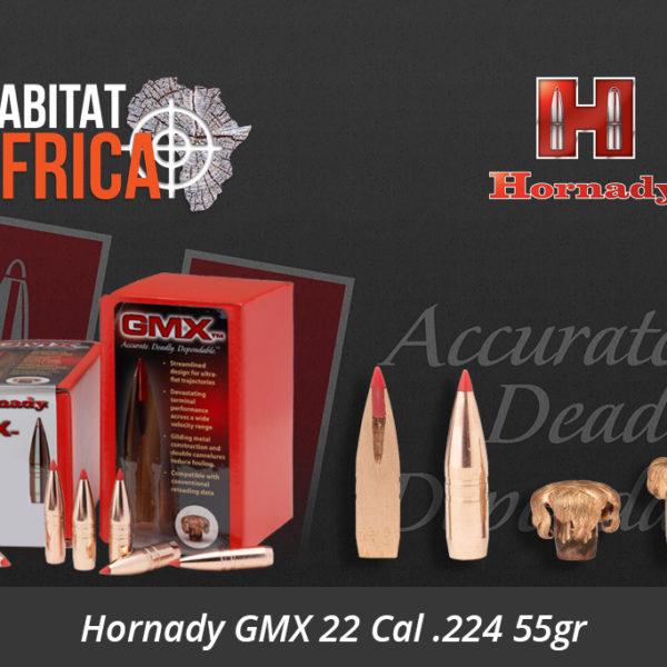 Hornady GMX 22 Cal 224 55gr Bullets