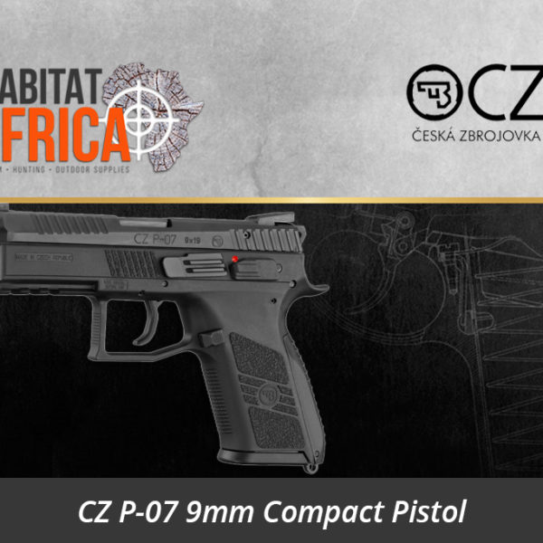 CZ P-07 9mm Compact Pistol - Habitat Africa | Gun Shop | South Africa