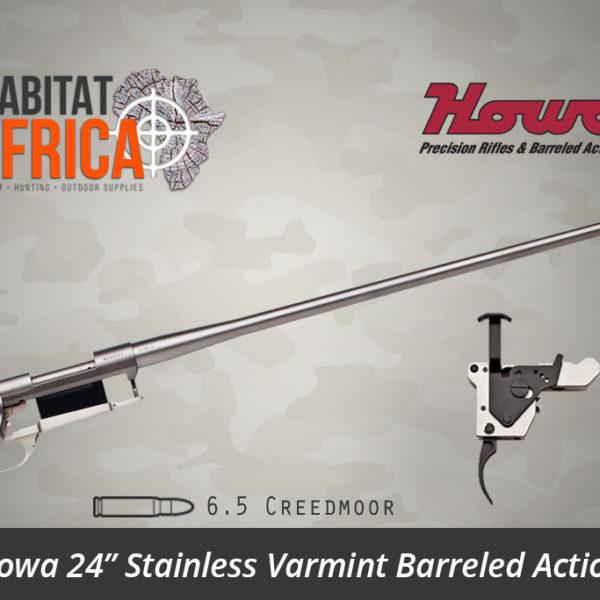 Howa 24 inch Stainless Steel Varmint 6.5 Creedmoor Barreled Action - Habitat Africa | Gun Shop | South Africa