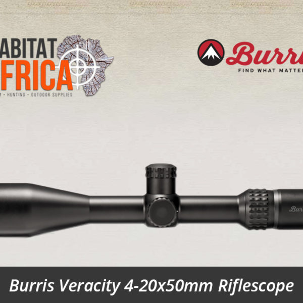 Burris Veracity 4-20x50mm Ballistic Plex E1 FFP Varmint Reticle High Cap Turrets - Habitat Africa | Gun Shop | South Africa