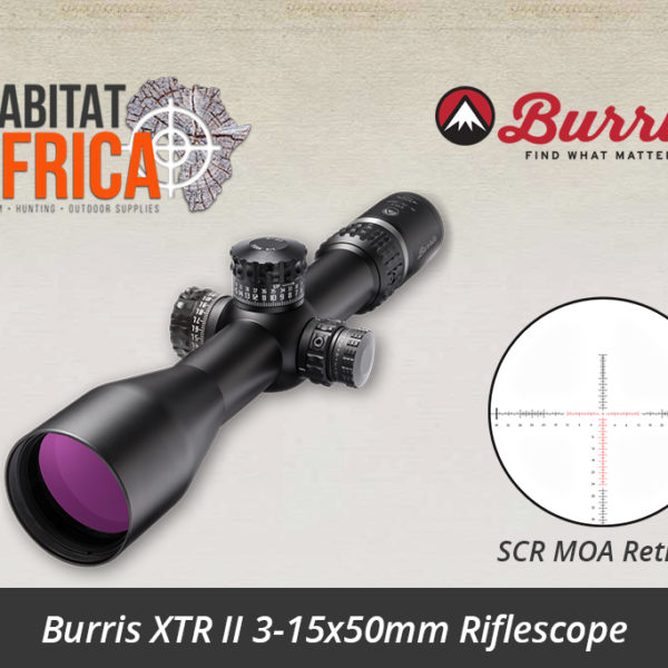 Burris XTR II 3-15x50mm SCR MOA Reticle - Habitat Africa | Gun Shop | South Africa