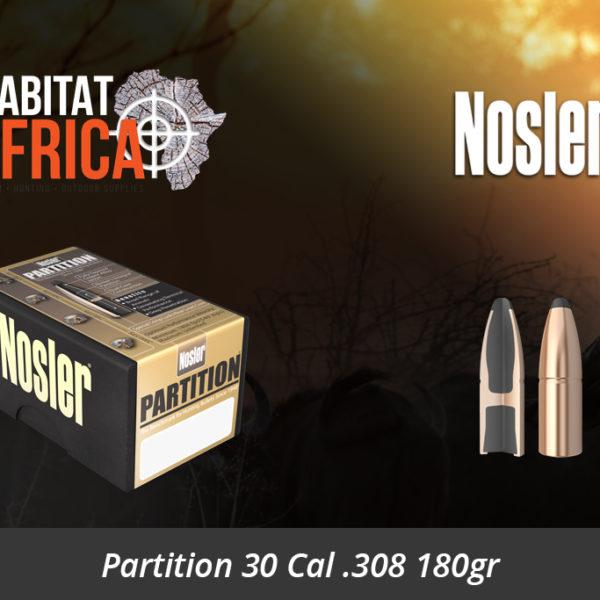 Nosler Partition 30 Cal 308 180gr Bullets - Habitat Africa | Gun Shop | South Africa