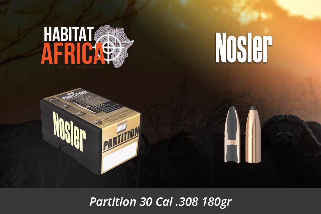 Nosler Partition 30 Cal 308 180gr Bullets 50pts