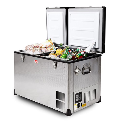 SnoMaster Classic 52 Litre Stainless Steel Dual Fridge and Freezer - Habitat Africa | Camping and Outdoor | South Africa