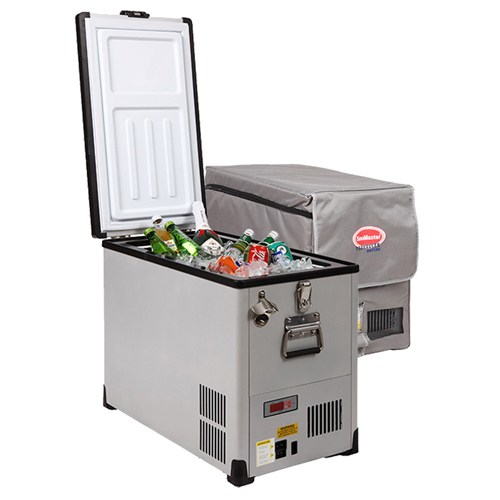 SnoMaster Traveller 42 Litre Stainless Steel Fridge/Freezer - Habitat Africa | Camping and Outdoor Supplies | South Africa