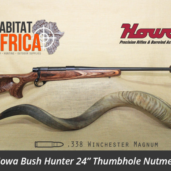 Howa Bush Hunter 24 inch 338 Win Mag Thumbhole Nutmeg Laminate Rifle - Habitat Africa | Gun Shop | South Africa