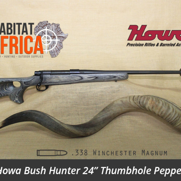 Howa Bush Hunter 24 inch 338 Win Mag Thumbhole Pepper Laminate Rifle - Habitat Africa | Gun Shop | South Africa