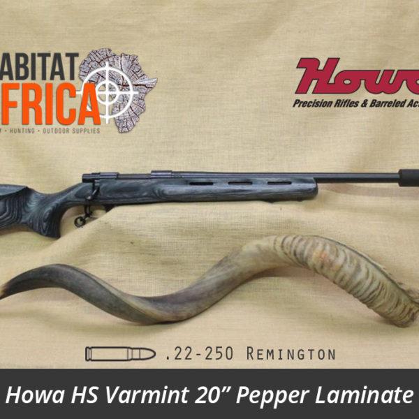 Howa HS Varmint 20 inch 22-250 Remington Blued Pepper Laminate - Habitat Africa | Gun Shop | South Africa