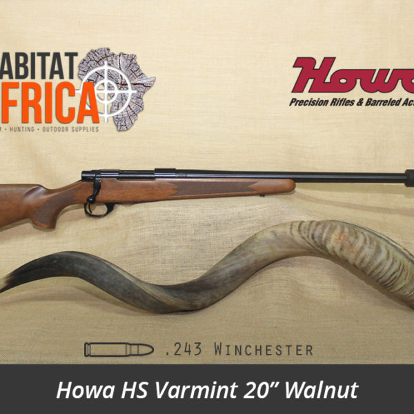 Howa HS Varmint 20 inch 243 Winchester Walnut Rifle - Habitat Africa | Gun Shop | South Africa