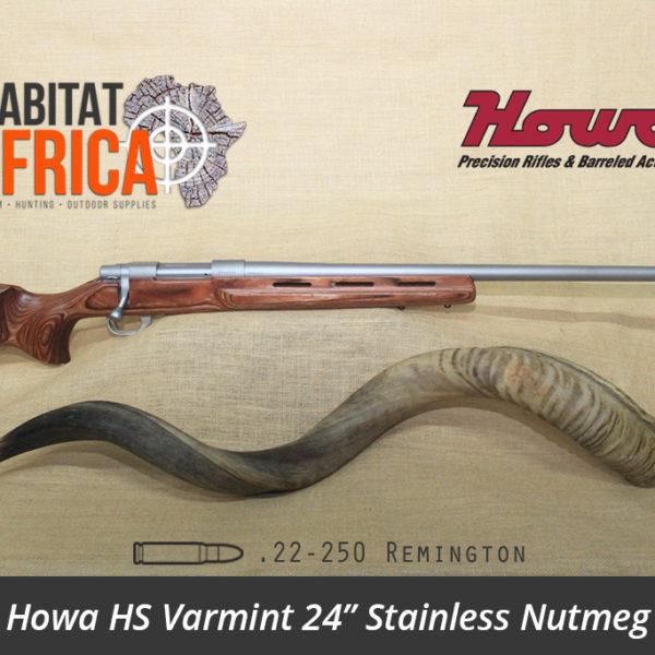 Howa HS Varmint 24 inch 22 250 Remington Stainless Nutmeg Laminate - Habitat Africa | Gun Shop | South Africa
