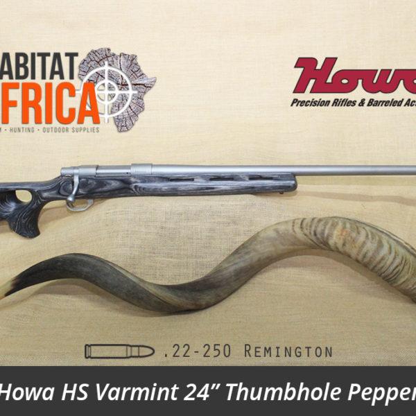 Howa HS Varmint 24 inch 22-250 Remington Stainless Thumbhole Pepper Laminate Rifle - Habitat Africa | Gun Shop | South Africa