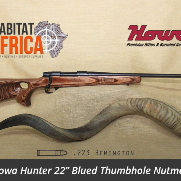 Howa Hunter 22 inch 223 Remington Blued Thumbhole Nutmeg Laminate Rifle - Habitat Africa | Gun Shop | South Africa