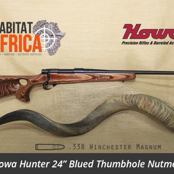 Howa Hunter 24 inch 338 Win Mag Blued Thumbhole Nutmeg Laminate Rifle - Habitat Africa | Gun Shop | South Africa