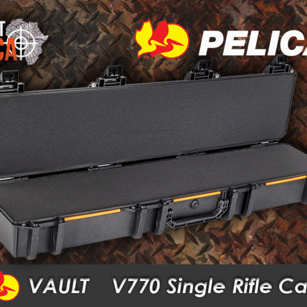 Pelican Vault V770 Single Rifle Case Habitat Africa open view