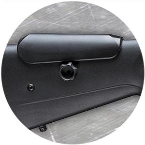 Adjustable Cheek Piece and Picatinny Rail