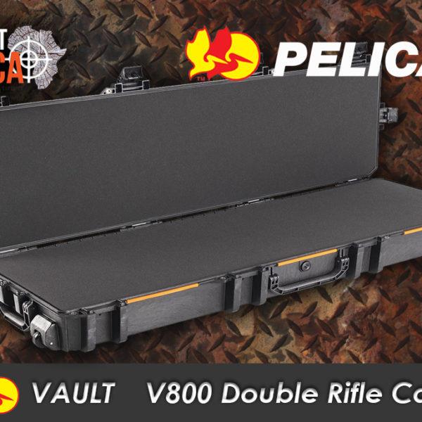 Pelican Vault V800 double rifle case Habitat Africa open
