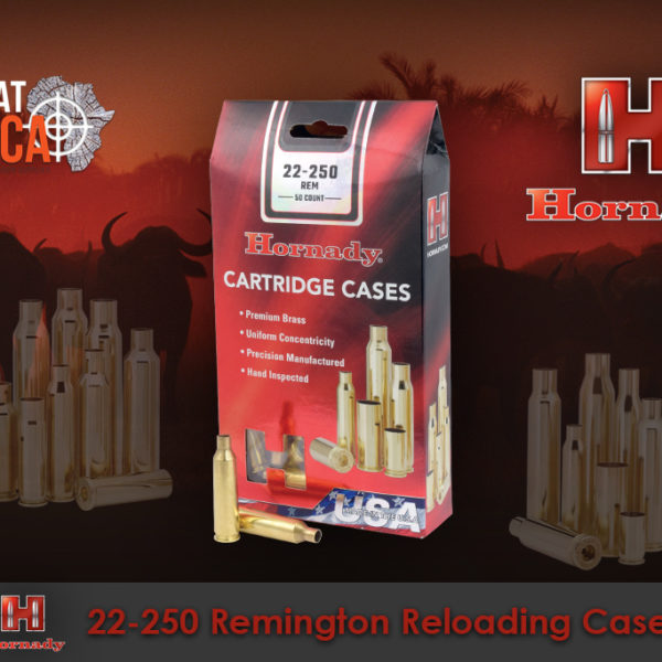 Hornady 22-250 Remington Reloading Brass Cases Habitat Africa