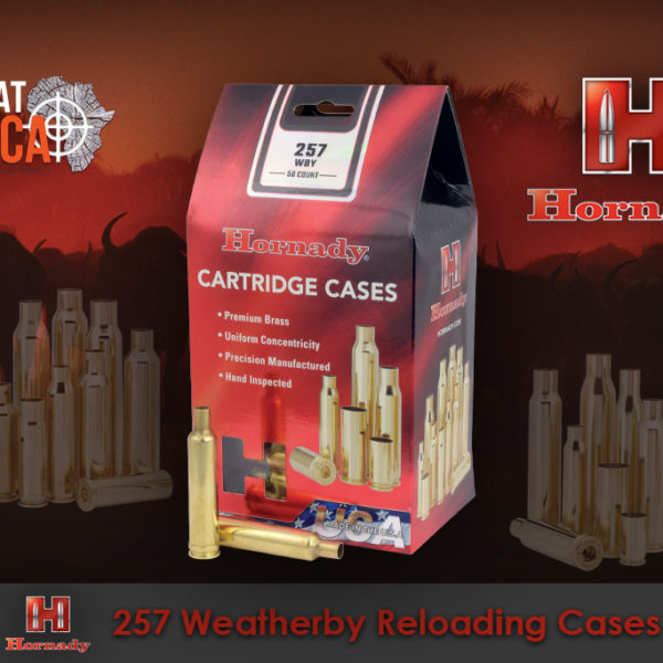 Hornady 257 Weatherby Reloading Brass Cases Habitat Africa