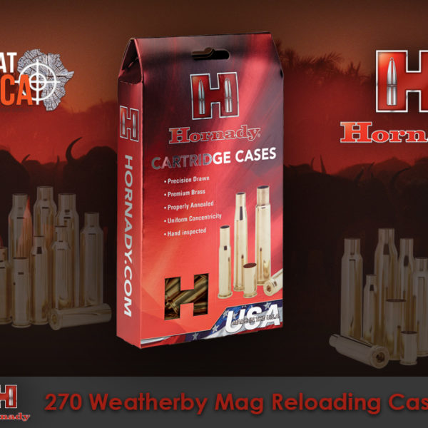 Hornady 270 Weatherby Magnum Reloading Brass Cases Habitat Africa
