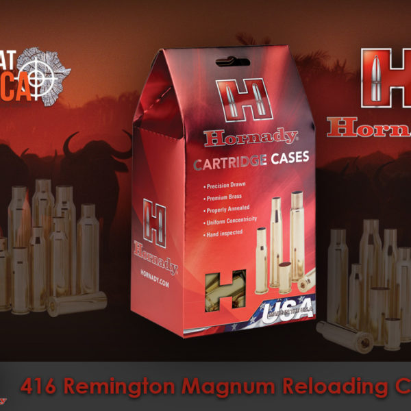 Hornady 416 Remington Magnum Reloading Brass Cases Habitat Africa