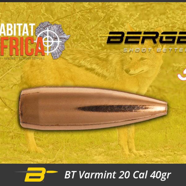 Berger BT Varmint 20 Cal 40gr Bullets Habitat Africa