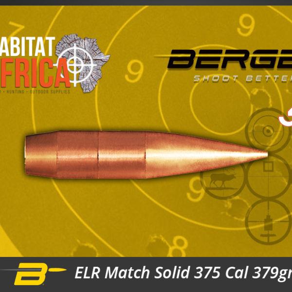 Berger ELR Match Solid 375 Cal 379gr Bullets Habitat Africa