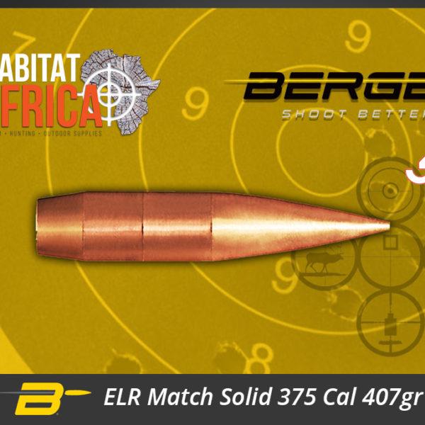 Berger ELR Match Solid 375 Cal 407gr Bullets Habitat Africa