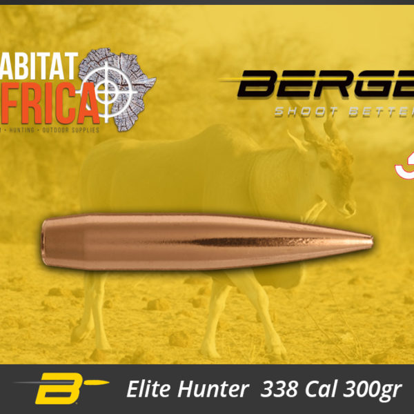Berger Elite Hunter 338 Cal 300gr Bullets Habitat Africa